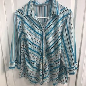 Tops - Plus Size Striped Blouse